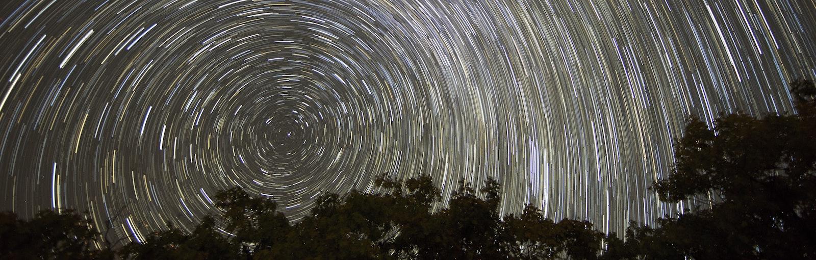 Timelapse of night sky